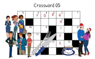 Crossword 05 – Les paires de mots