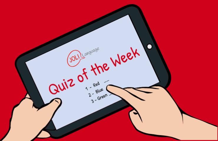 Quiz 05  Grammaire -Les prépositions