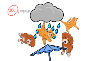 Expression typique – It's raining cats and dogs