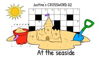 Justine's Crossword 02  At the seaside