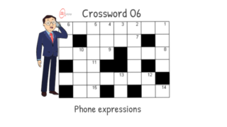 Crossword 06 – Telephone expressions