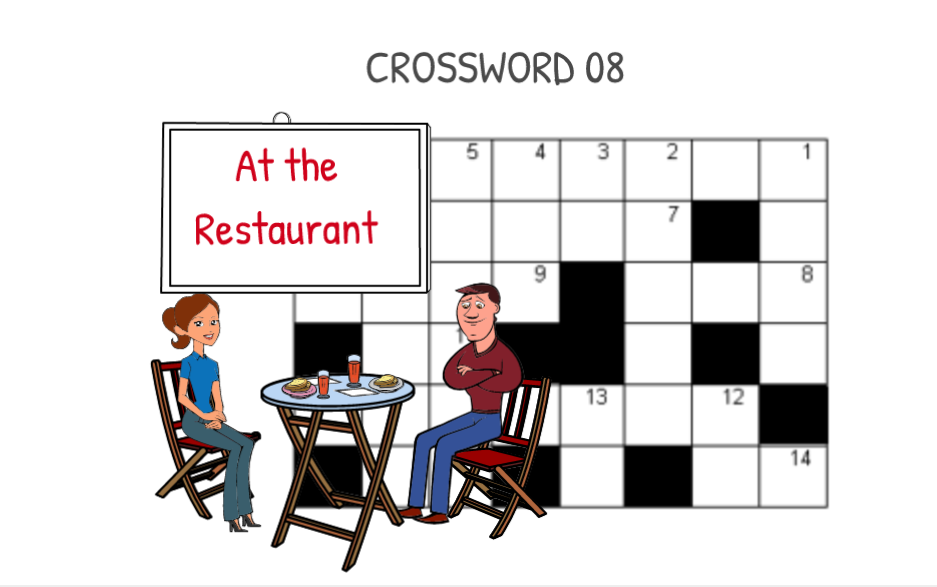 Crossword 08  At the restaurant