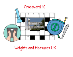 Crossword 10 Weights and Measures UK