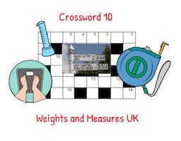 Crossword 10 Weights and Measures UK