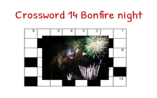 Crossword 14  Bonfire Night – Activity 3