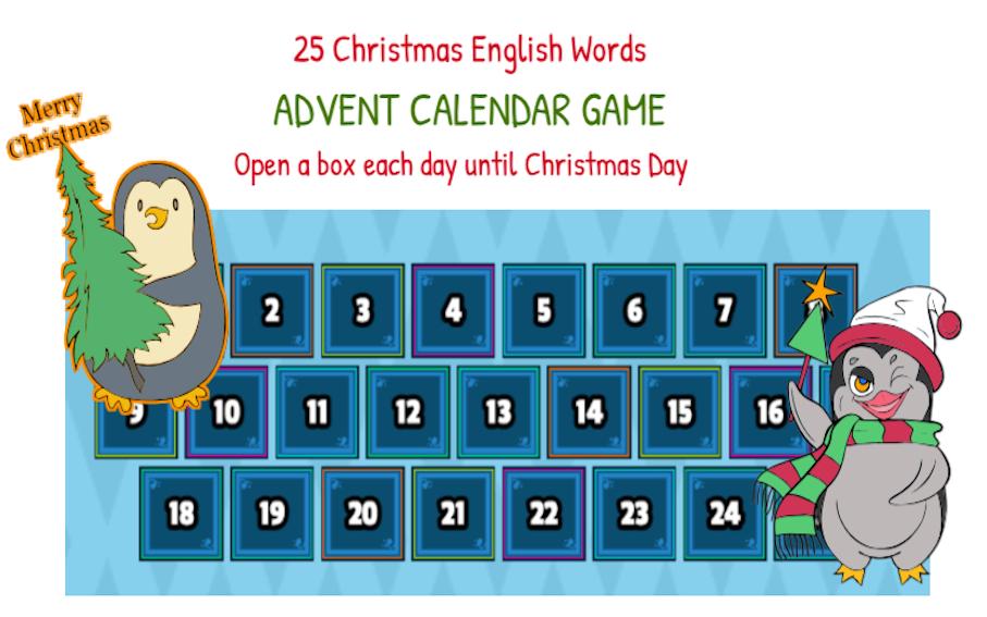 Justine's Advent Calendar Game